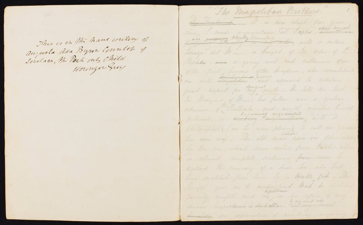 Commonplace Book of Ada Lovelace