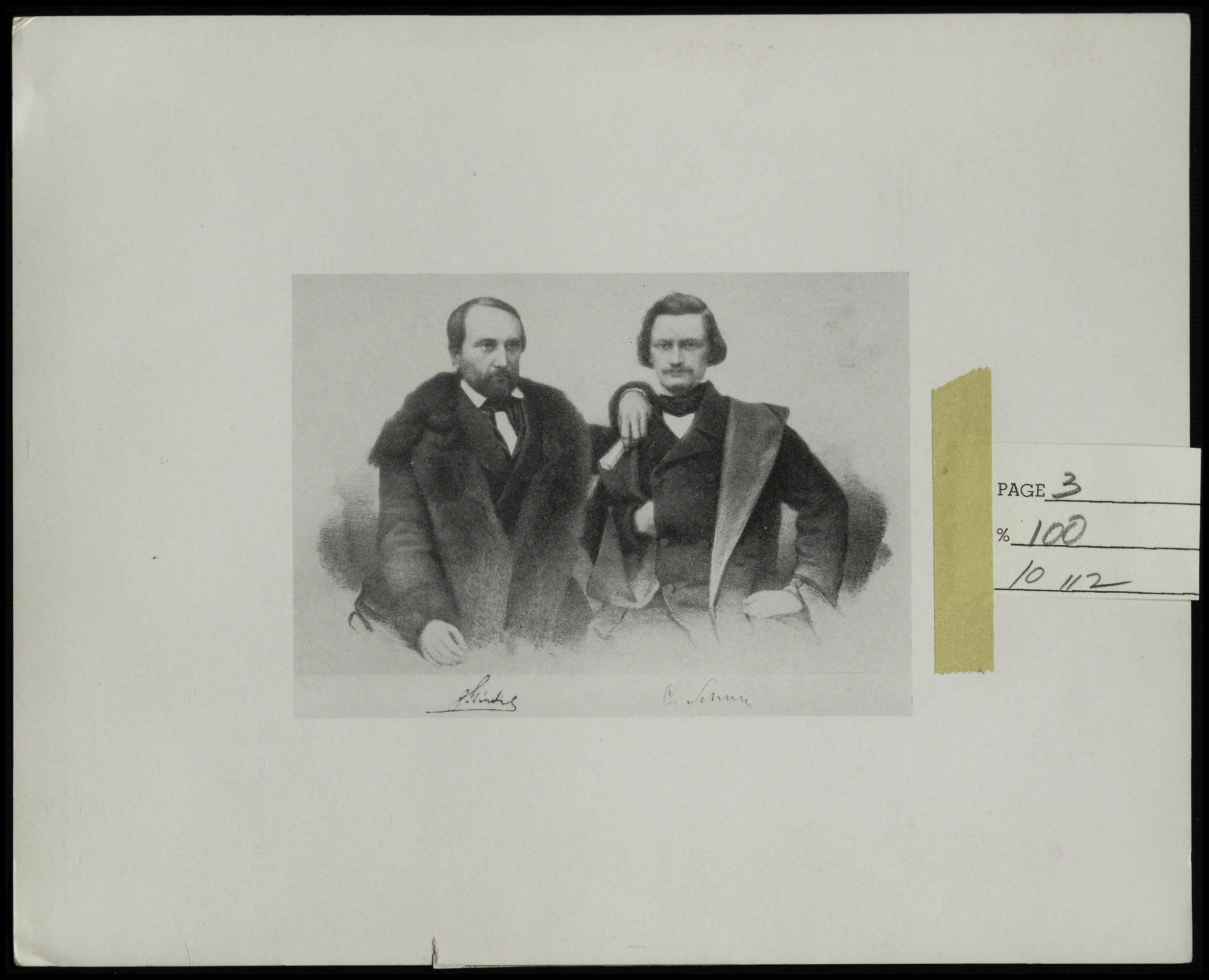 Carl Schurz, right, pictured with friend and mentor, Gottfried Kinkel
