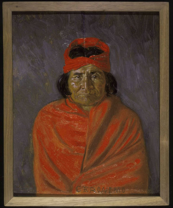 Portrait of Geronimo by E. A. Burbank