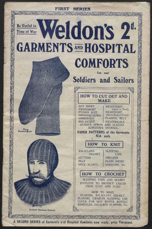 Weldon's Garments and Hospital Comforts for our Sailors and Soldiers.
