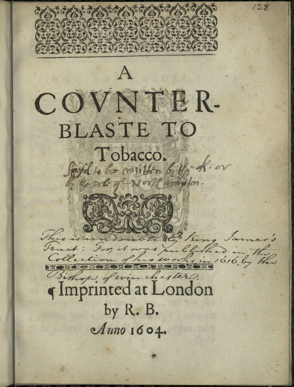 A Very Regal Rejection of Tobacco