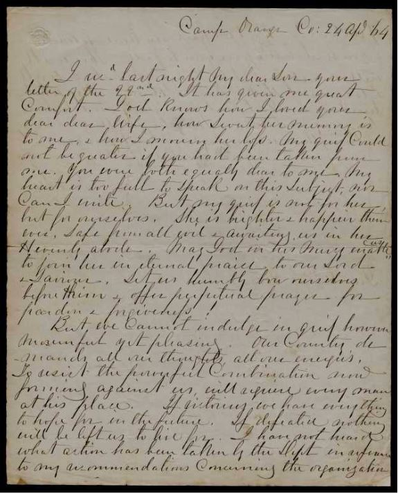 Robert E. Lee's condolence letter to his son Rooney, 1864: A Special Guest Blog by Sandra Trenholm