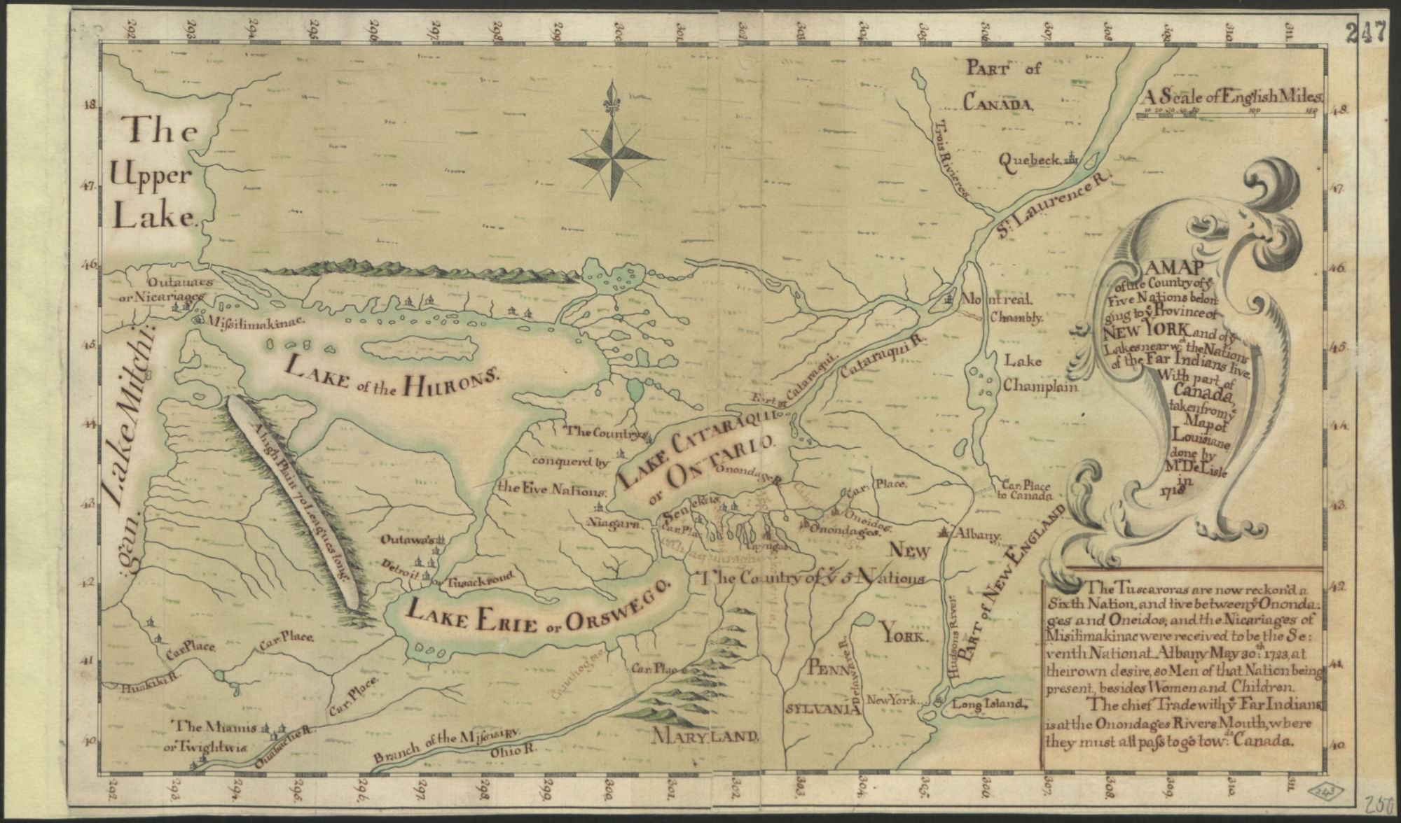 New lands on a plate: British vs French in eighteenth-century North America