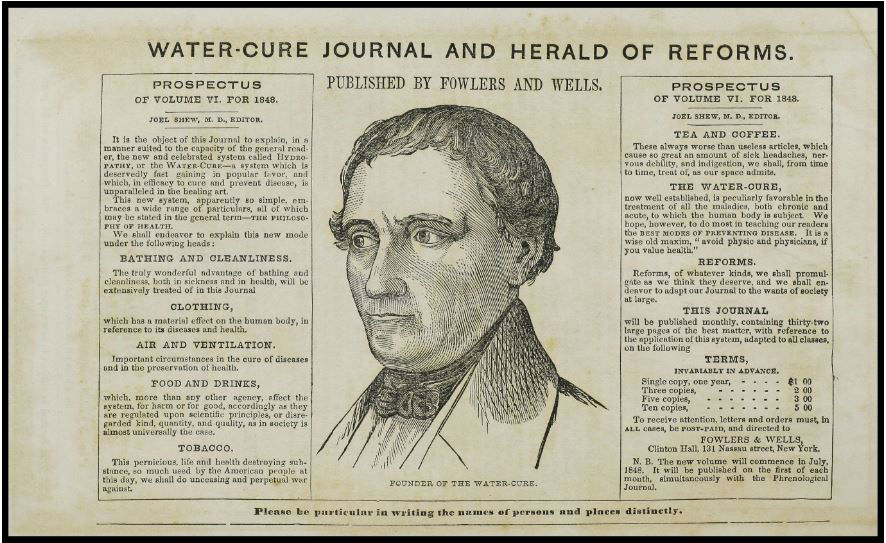 The Water-Cure Journal and Herald of Reform: Understanding Hydropathy in Antebellum America: A special guest blog by Rachel Williams