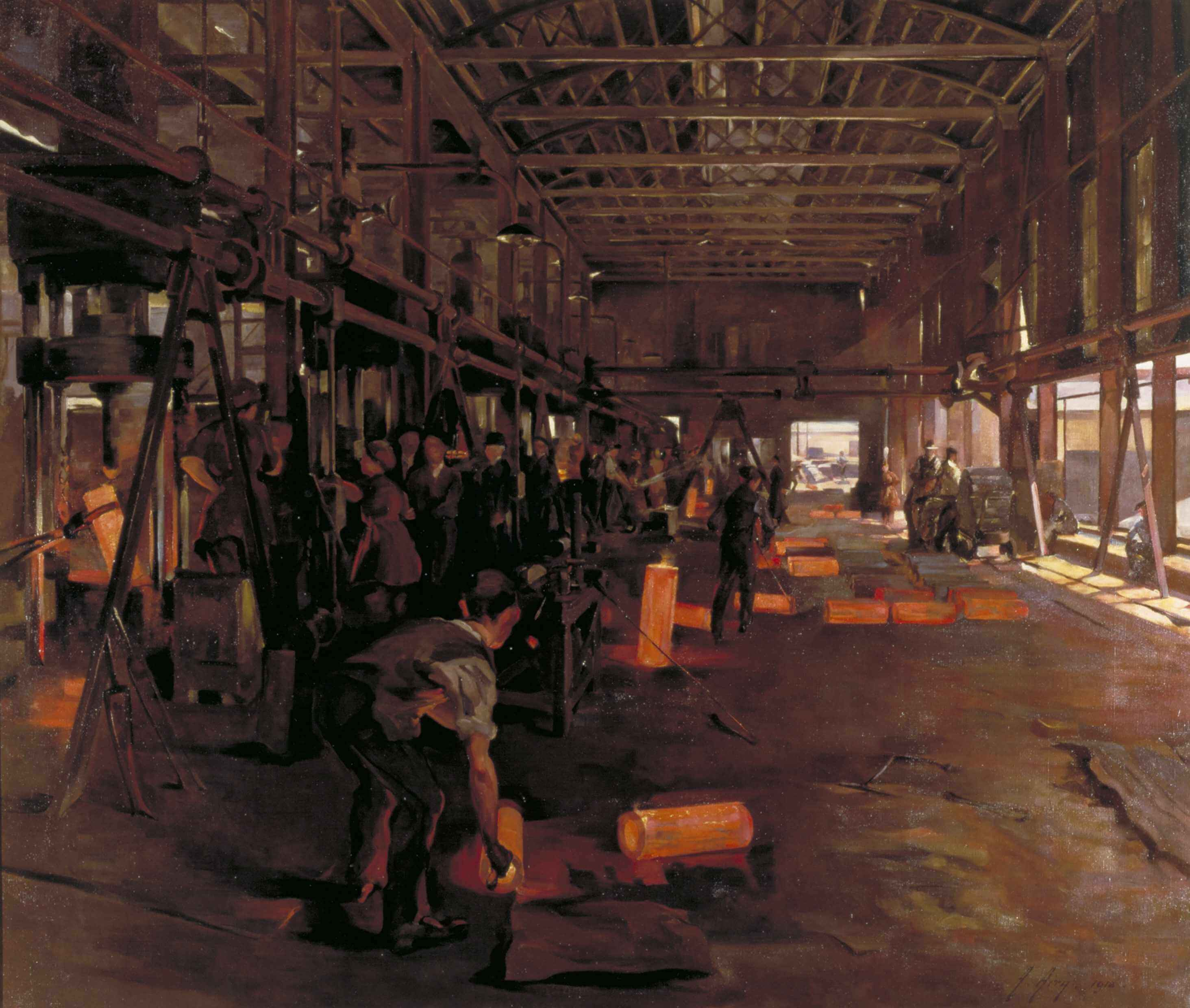 Shoes burnt off my feet: Anna Airy on painting the ferocious heat of WWI shell furnaces
